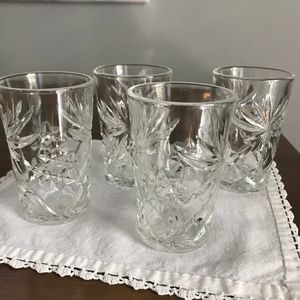 Anchor Hocking Prescut Juice Glasses | Set of 4